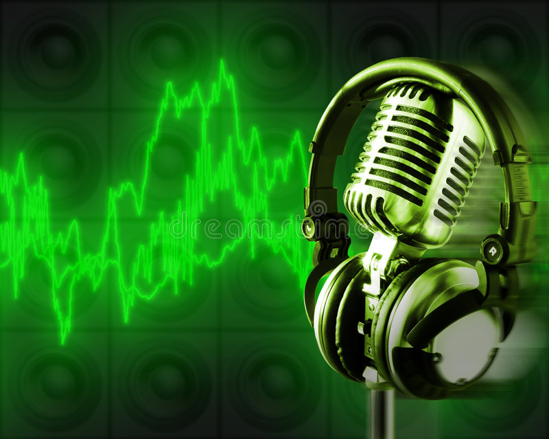 Music Energy (+clipping path, XXL) royalty free stock image