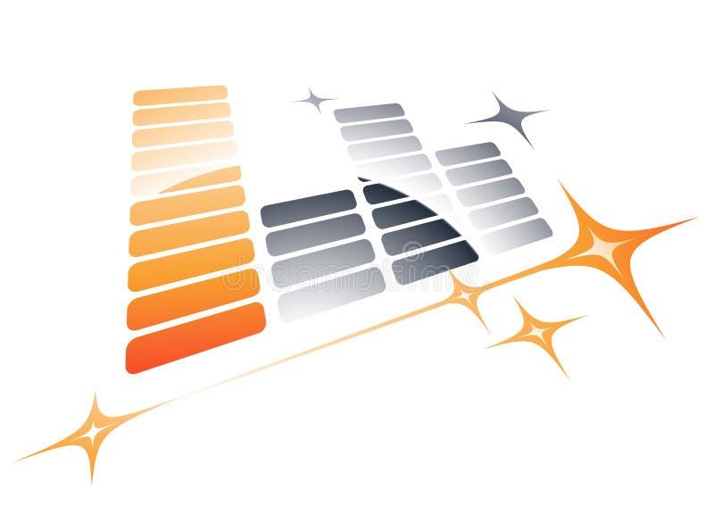 Music Equalizer Design Royalty Free Stock Image