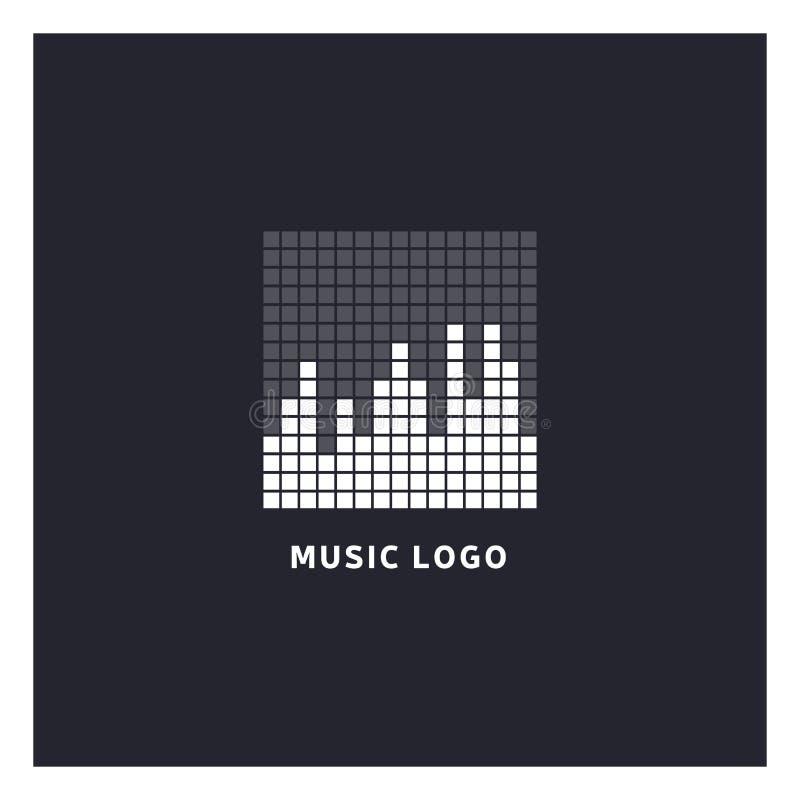 Music equalizer logo. Audio electronic icon. stock illustration