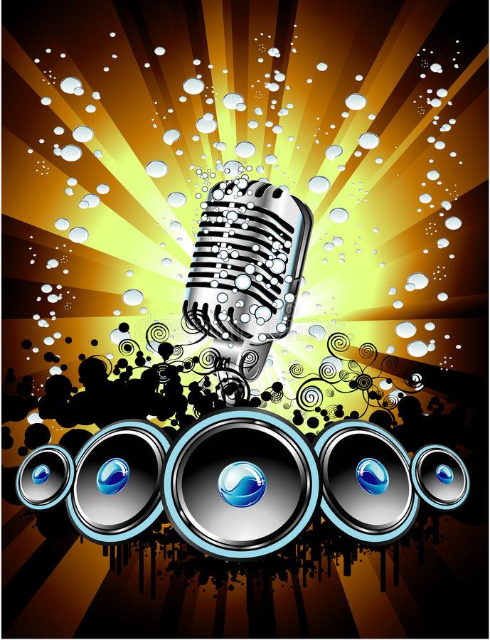Download Music Event Background stock vector. Image of microphone - 8627712