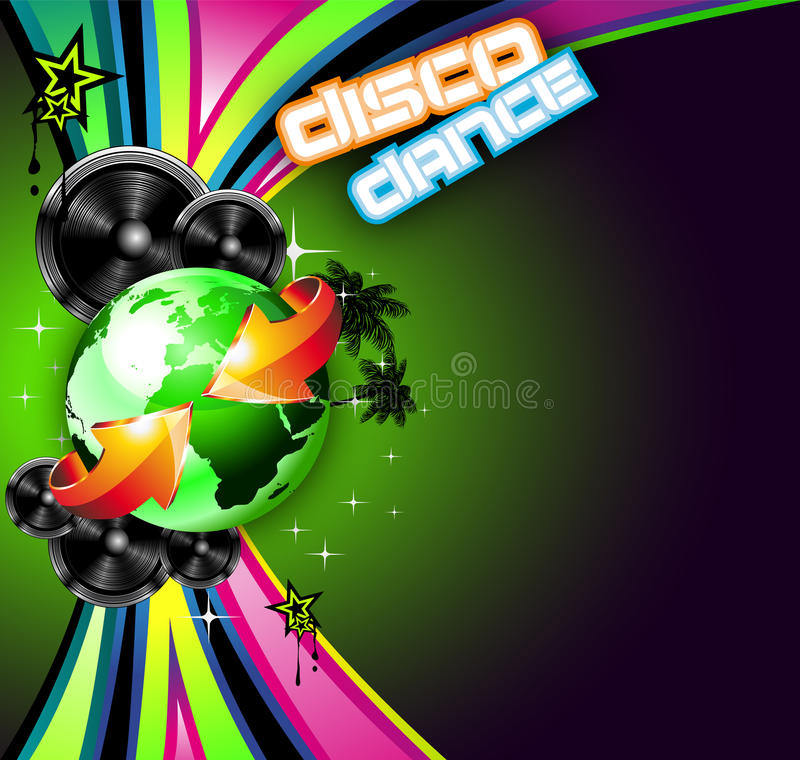 Download Music Event Background For Disco Flyers Stock Illustration - Image: 13606102