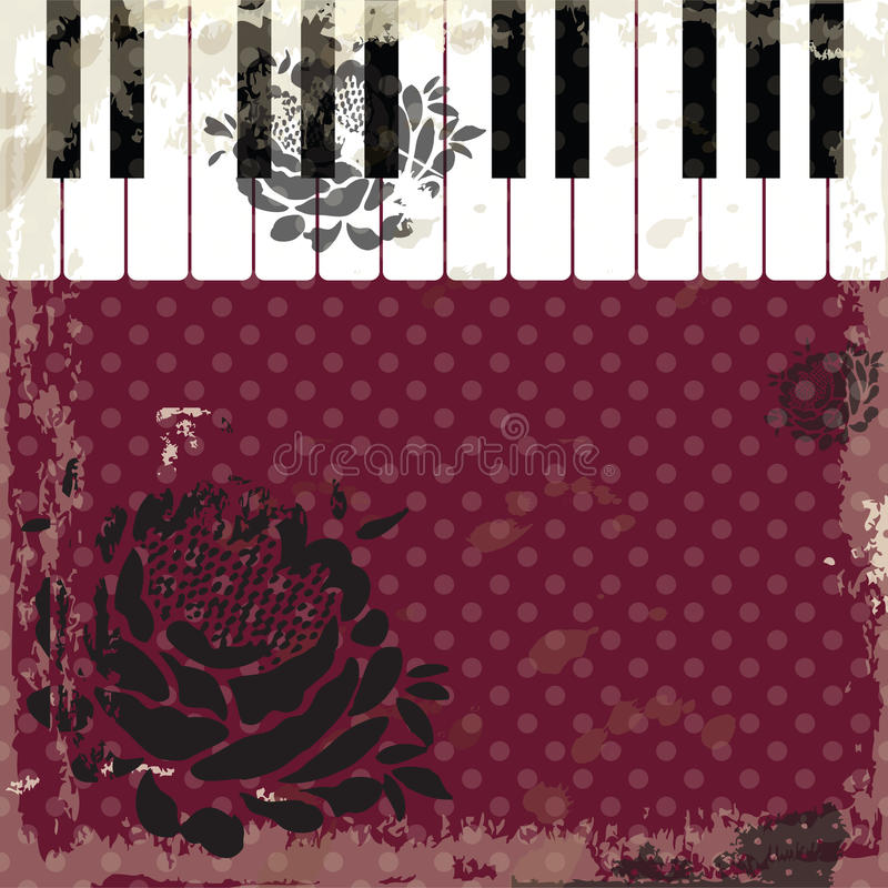 Music event piano template. Background with piano keys. Piano keyboard. Abstract background. Old rustical style. vector illustration