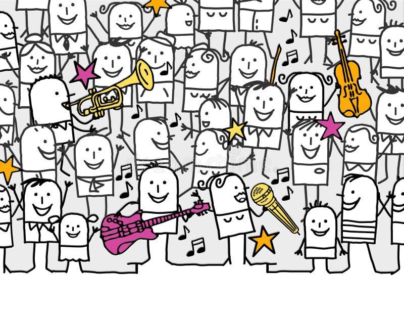 Download Music festival stock illustration. Illustration of friends - 18442764