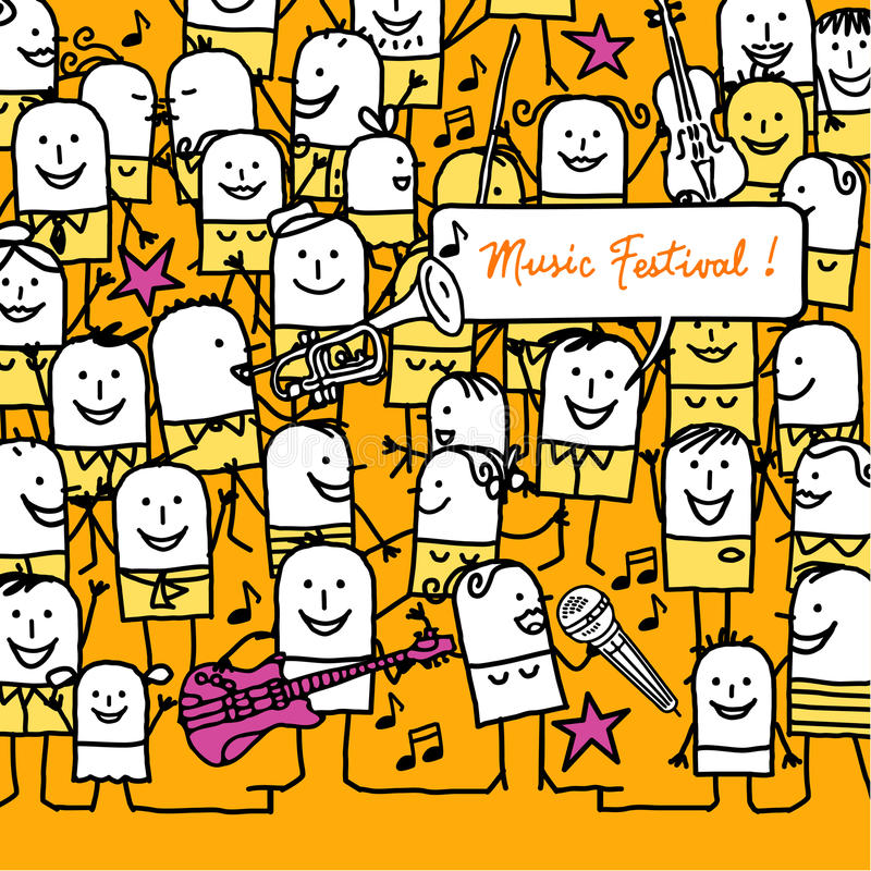 Download Music festival ! stock vector. Image of character, style - 9363411