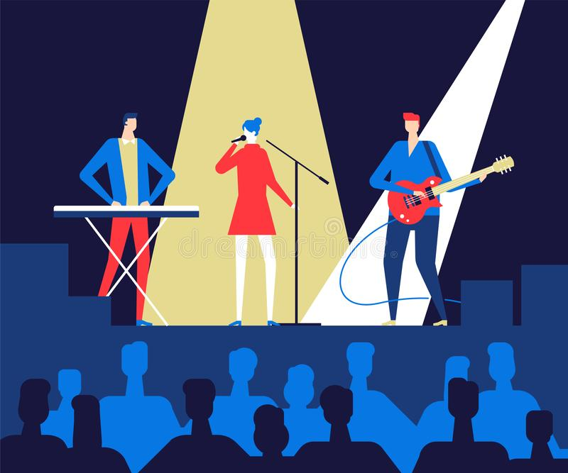 Music festival - flat design style colorful illustration vector illustration