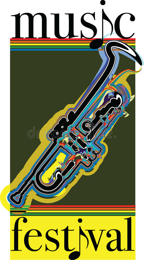 Music festival illustration. royalty free illustration