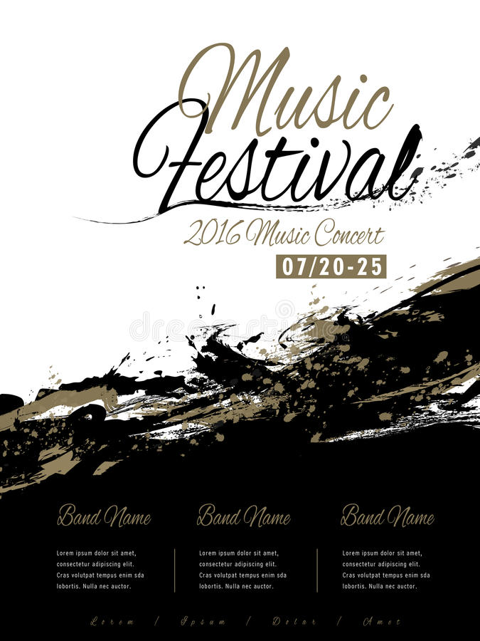Music Festival Poster Design Stock Vector - Illustration of musical ...