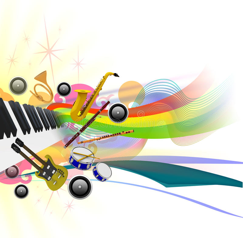Download Music Festival Template 1 stock illustration. Image of bassoon - 9843729