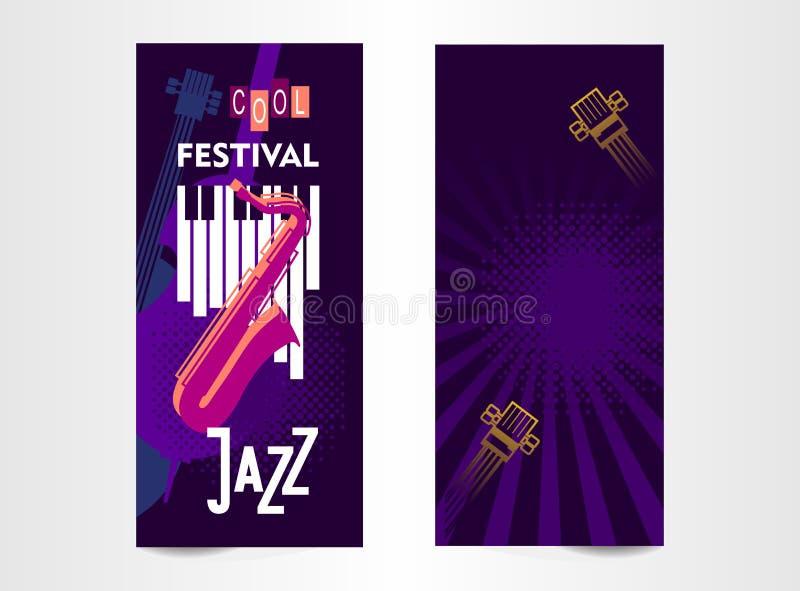 Music festival ticket royalty free illustration