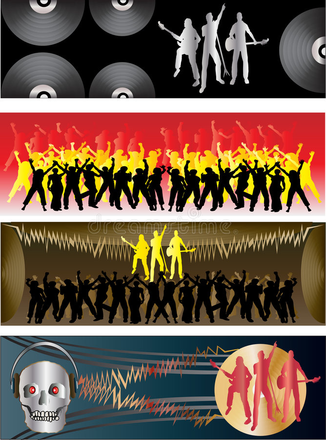 Music Flavoured Banners royalty free illustration