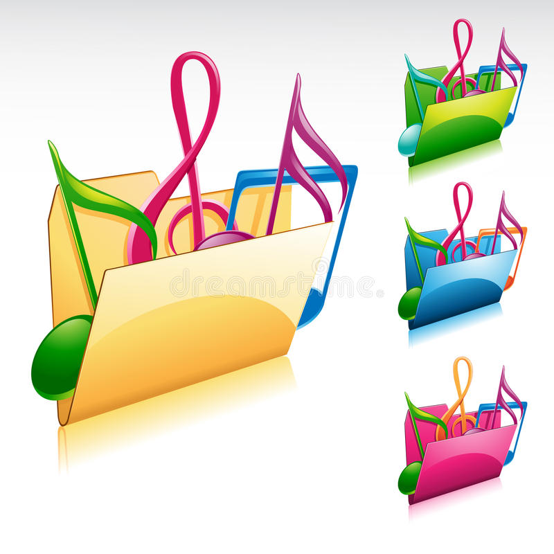 Download Music folder icon stock vector. Image of papers, mauve - 16328352