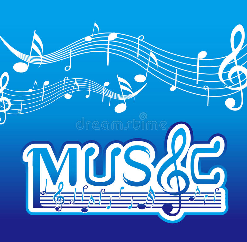 Download Music Font Design Royalty Free Stock Photos - Image: 23056338