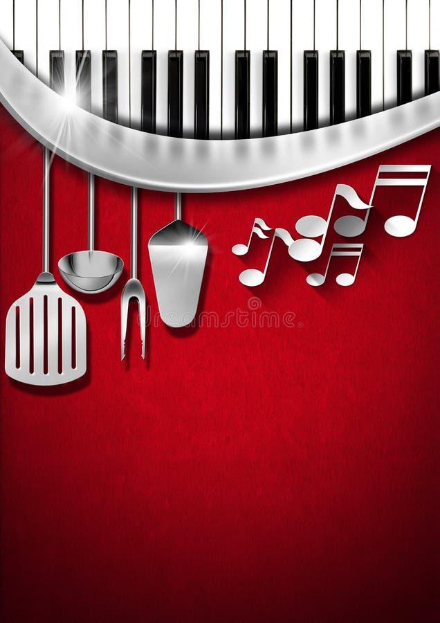 Music And Food Menu Design Stock Illustration