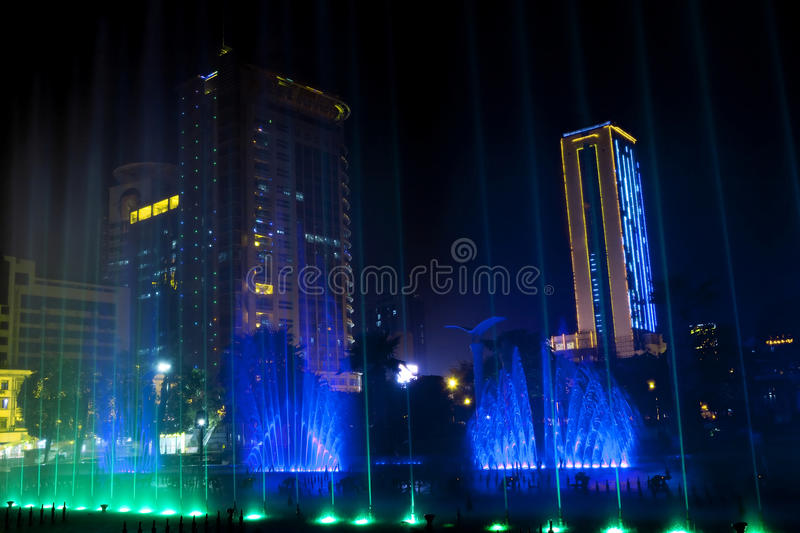 Download Music fountain at night stock photo. Image of fountain - 23387594