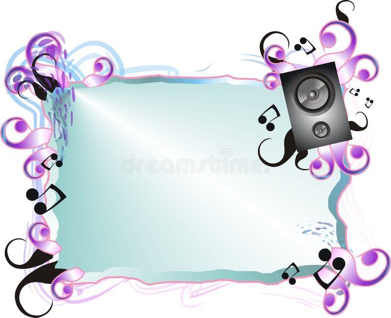 Music Frame Background stock vector. Illustration of modern - 9414075