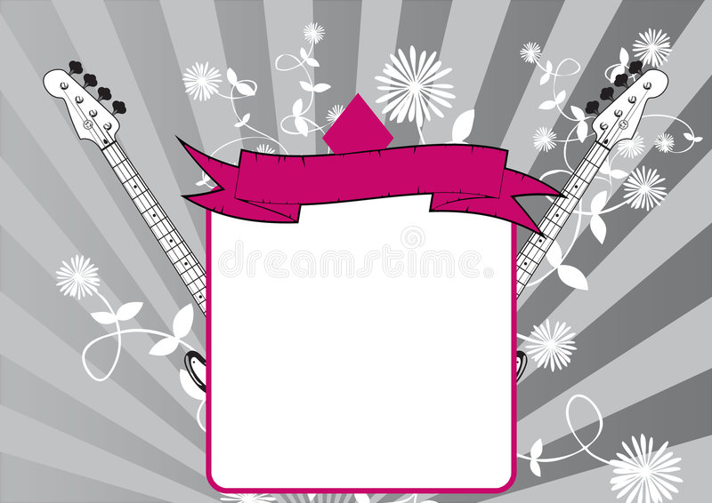 Download Music frame and scroll stock illustration. Image of design - 5926096