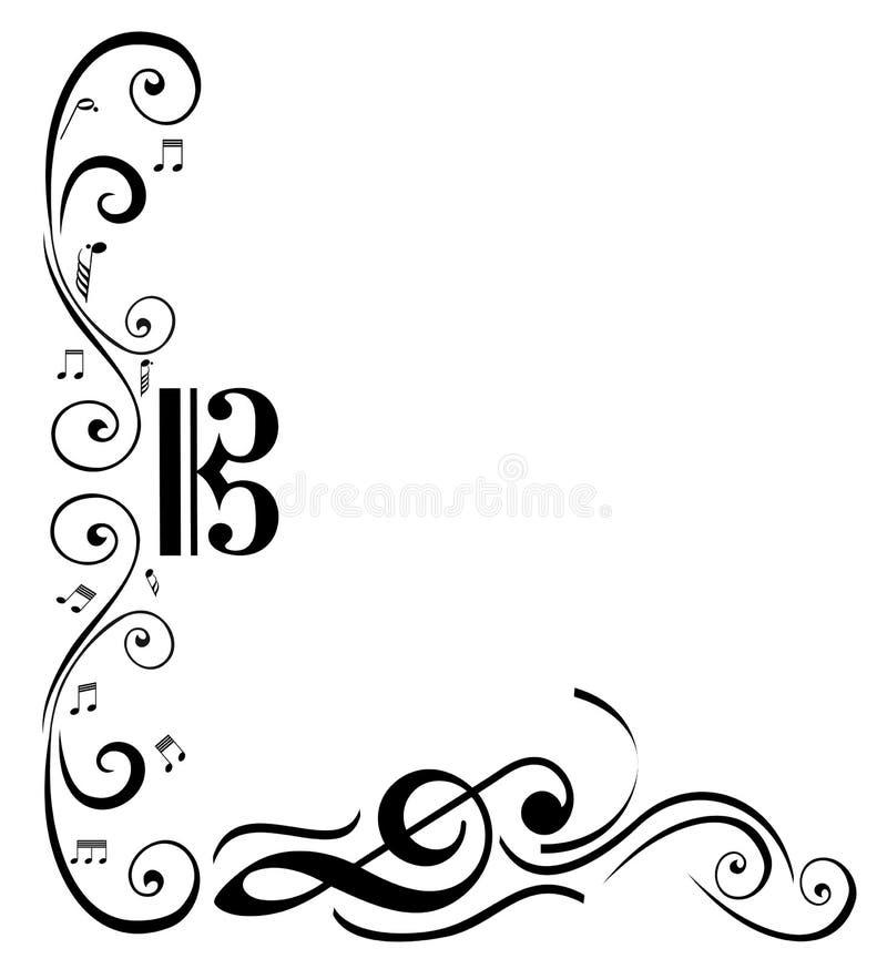 Music Frame stock vector. Illustration of artistic, border - 43903198
