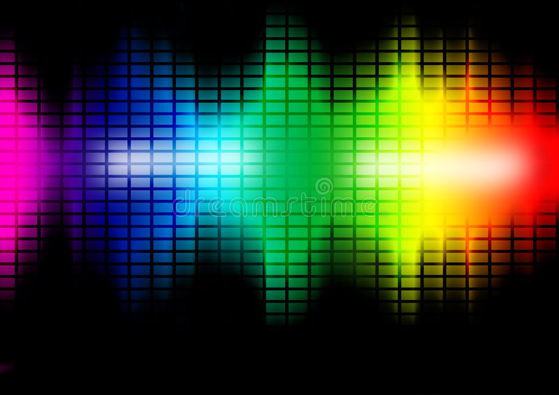 Music Frequency Equalizer Illustration Royalty Free Stock Photography