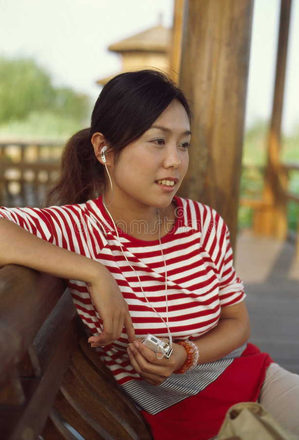 Music Girl. A music girl from china royalty free stock photos
