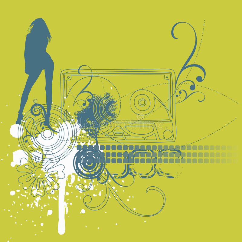 Download Music girl background stock vector. Image of illustration - 5845085