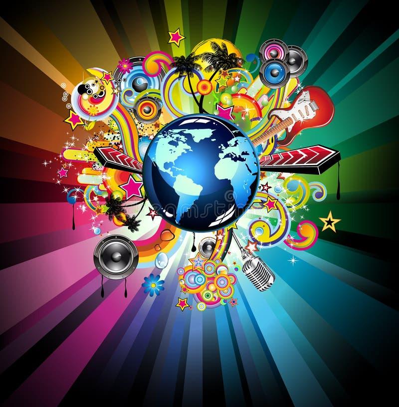 Music GLOBAL Event Background vector illustration