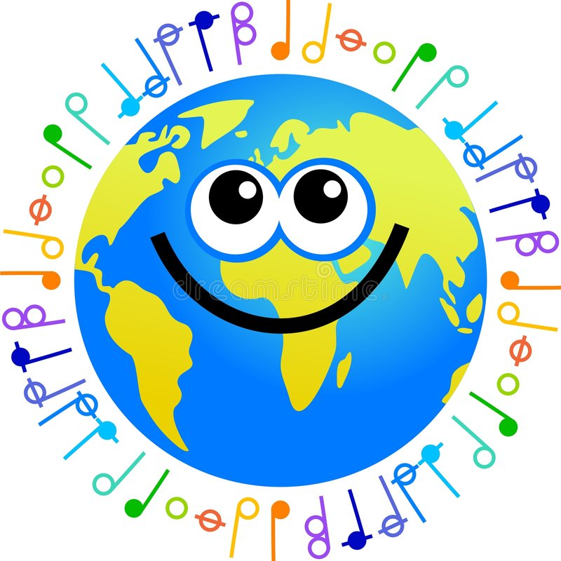 Music globe vector illustration