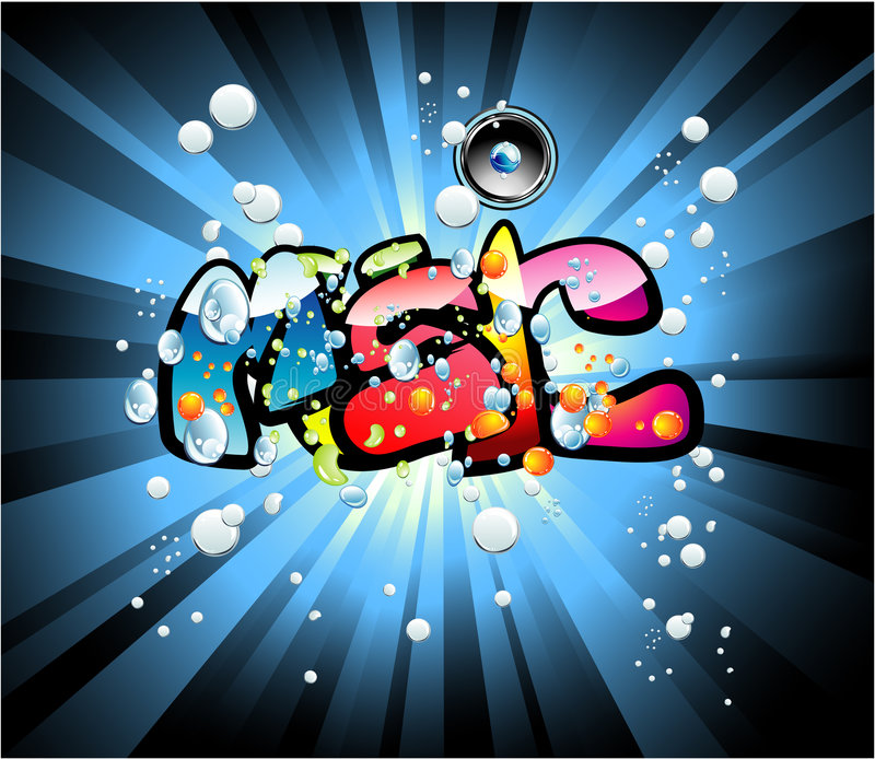Download Music Graffiti Background Stock Photo - Image: 8060750