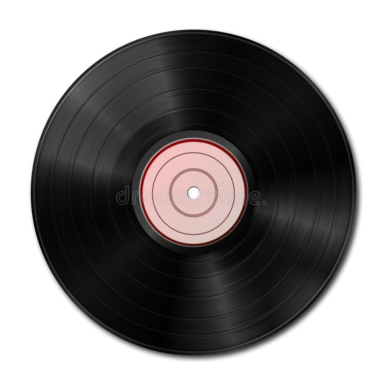 Music gramophone vinyl LP record vector illustration