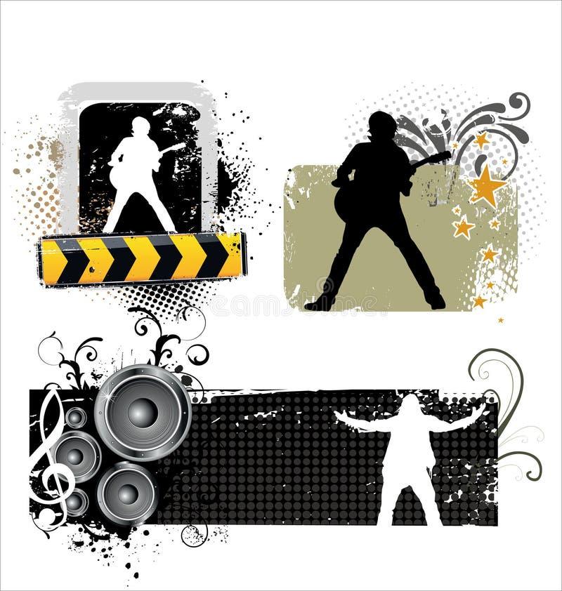 Music grunge poster