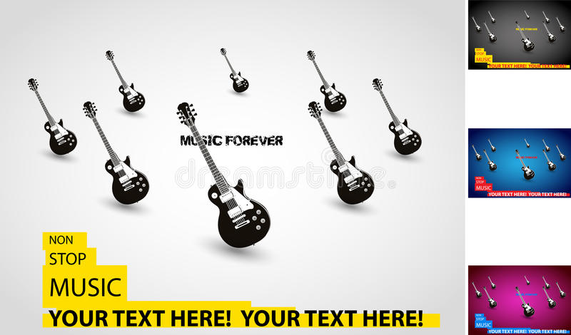 Music grunge poster template royalty free illustration