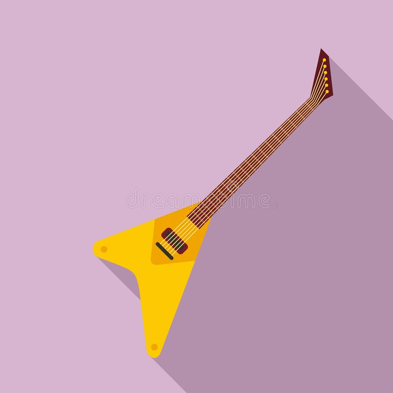 Music guitar icon, flat style royalty free illustration