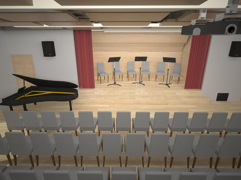 Music hall royalty free illustration