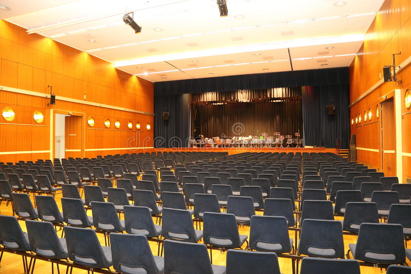 Music Hall with Stage stock photo