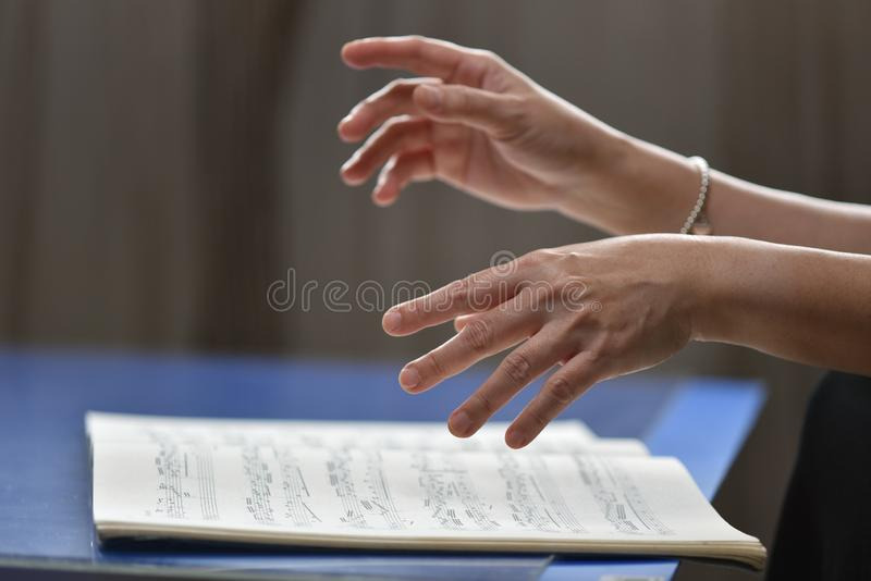 The music hands royalty free stock photo
