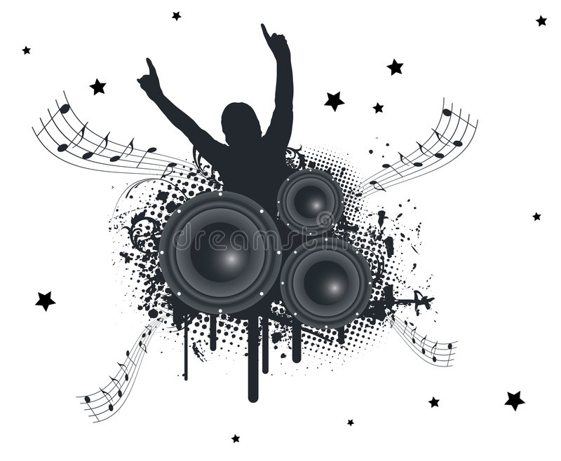 Download Music Hands Up stock vector. Illustration of music, human - 6618799