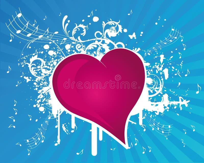 Music Heart royalty free illustration