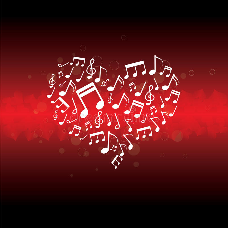 Download Music in heart background stock vector. Image of audio - 25924868