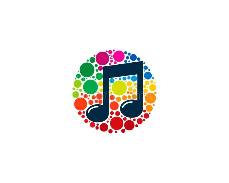 Music Icon Logo Design Element royalty free illustration