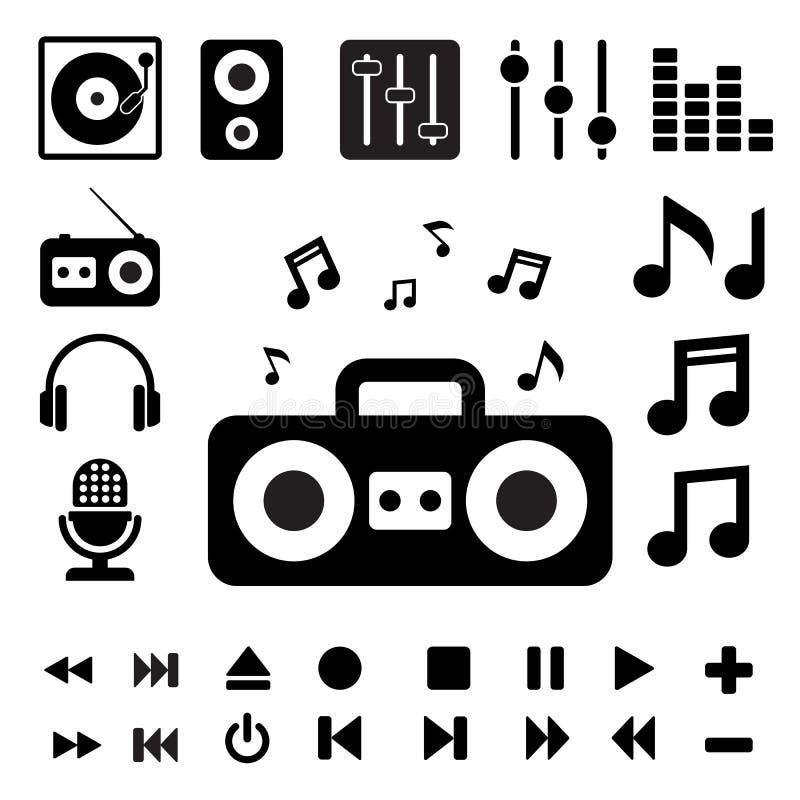 Music Icon Set. Stock Photo