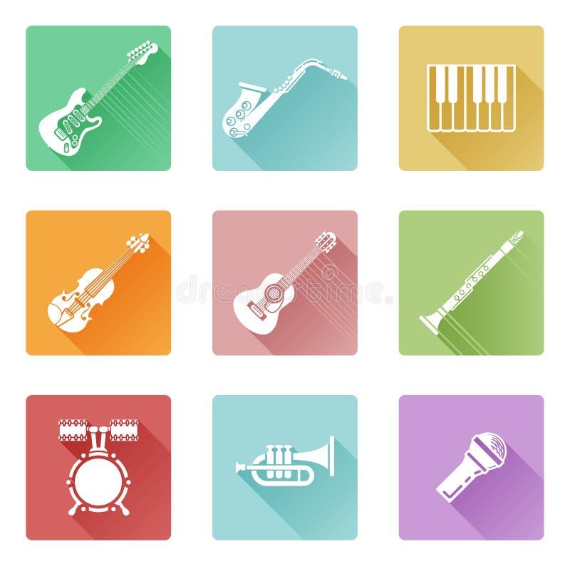 Music icon set royalty free illustration