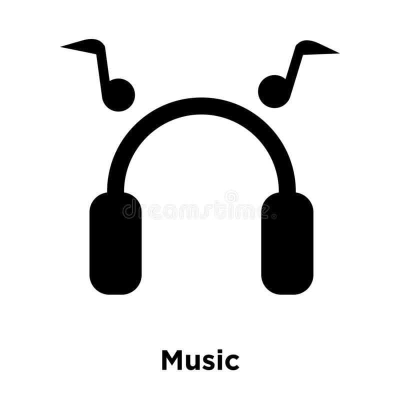 Music icon vector isolated on white background, logo concept of royalty free illustration