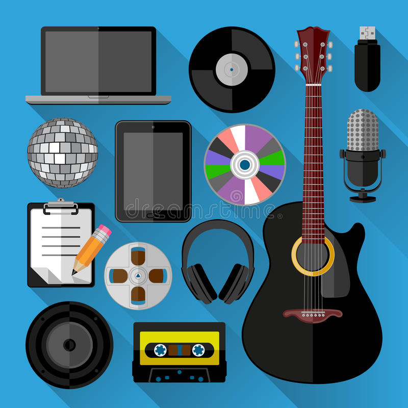 Download Music Icons Bundle Stock Vector - Image: 39747197