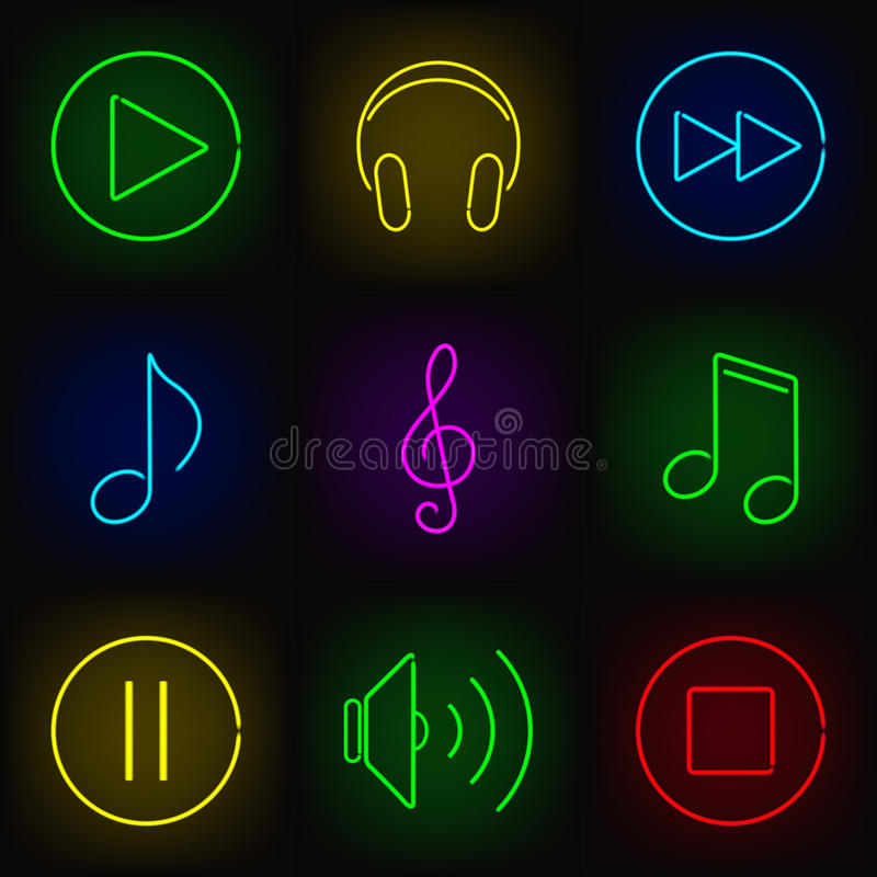 Music icons royalty free illustration