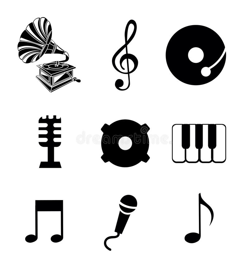 Music icons royalty free illustration