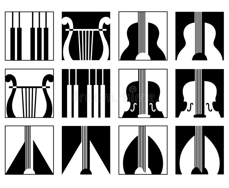 Download Music icons set stock vector. Image of jazz, sign, graphic - 20983474