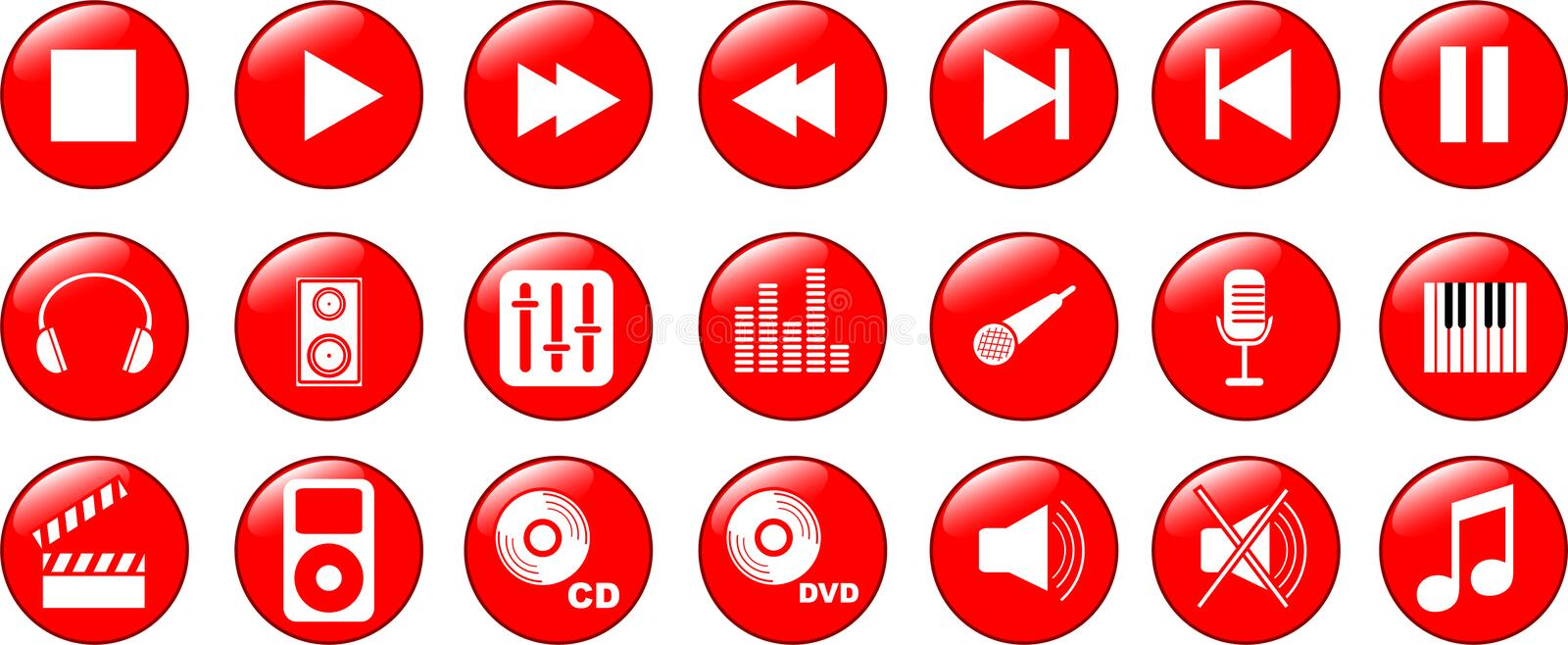 Download Music icons set stock vector. Illustration of electric - 8228843