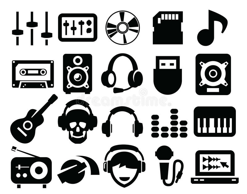 Download Music Icons Royalty Free Stock Images - Image: 30504779