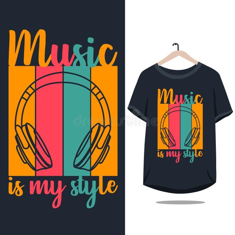 Music illustration for t shirt design royalty free stock photo