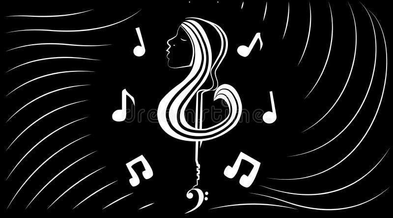 Music inner world stock image