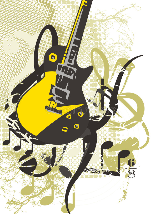 Music Instrument Background stock illustration